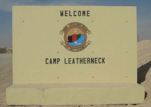 Camp Leatherneck Sign