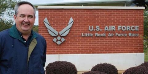 Little Rock Air Force Base Sign