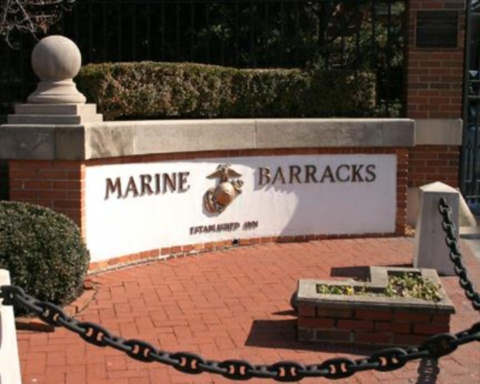 Marine Barracks Sign