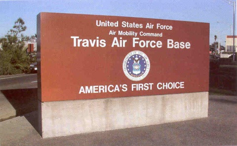 Travis AFB Sign
