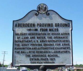 Aberdeen Proving Ground Army Base in Aberdeen, MD