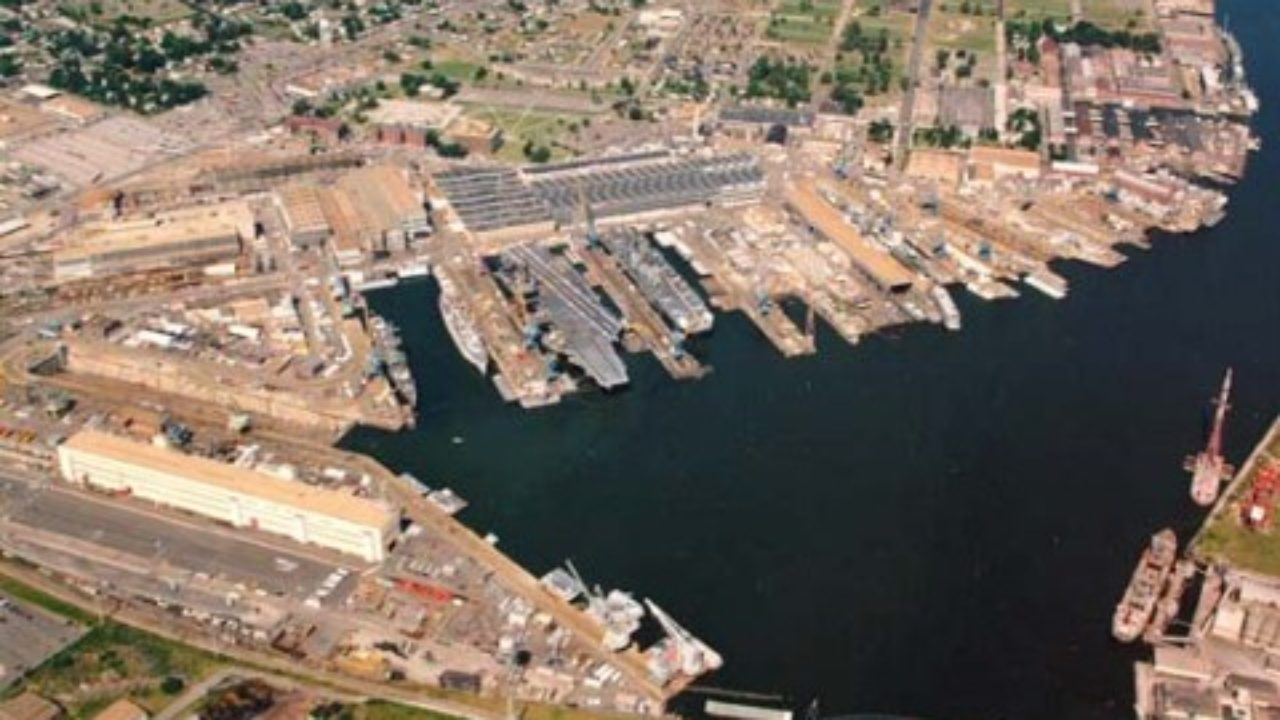 Norfolk Naval Shipyard Navy Base in Portsmouth, VA