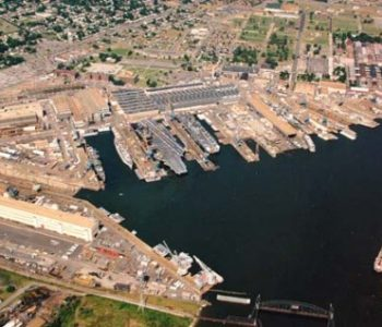 Norfolk Naval Shipyard Navy Base in Portsmouth, VA