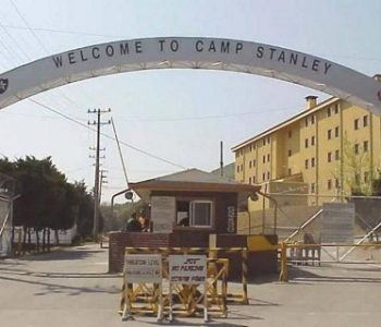 Camp Stanley Army Base in Uijeongbu, South Korea