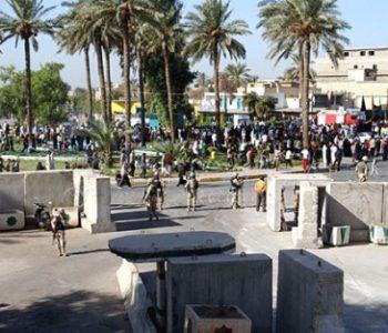 Camp Justice Army Base in Kadhimiya, Iraq