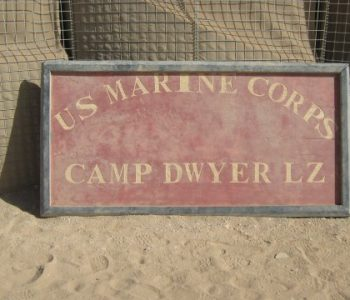 Camp Dwyer Marine Base in Hemland River Valley, Afghanistan
