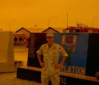 Camp Spearhead Army Base in Shuaiba, Kuwait