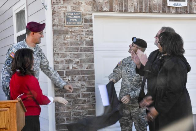 Military Celebrating New Home