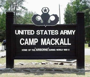 Camp Mackall Army Base in Southern Pines, NC
