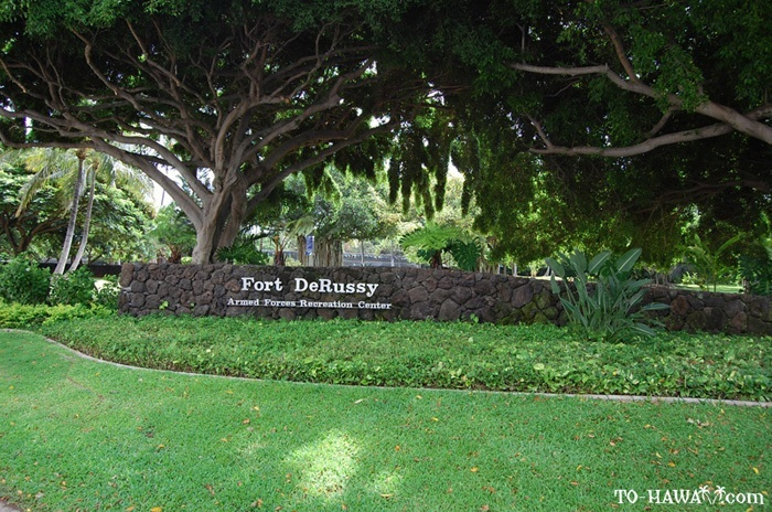 Fort Derussy Army Base in Honolulu, HI