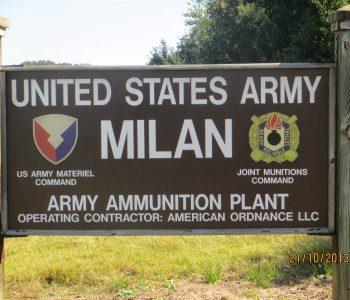 Milan Army Ammunition Plant Army Base in Milan, TN