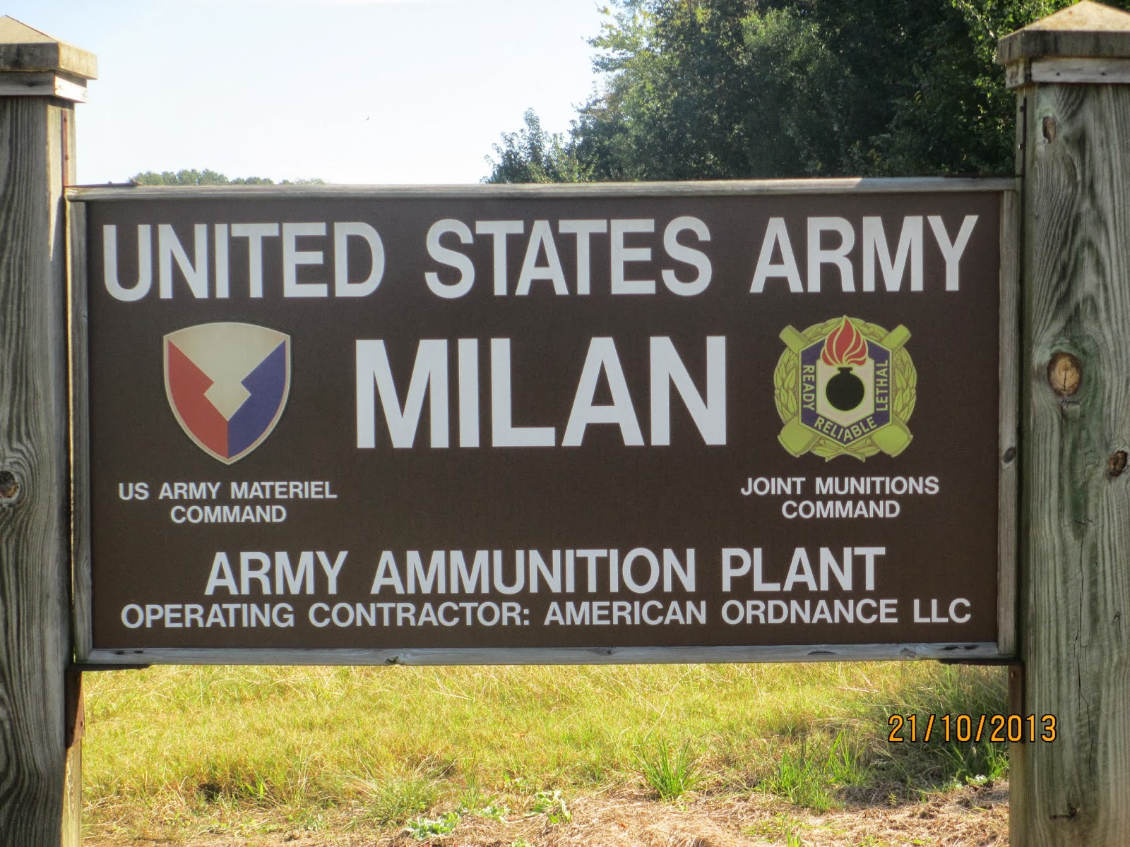Milan Army Ammunition Plant Army Base in Milan, TN
