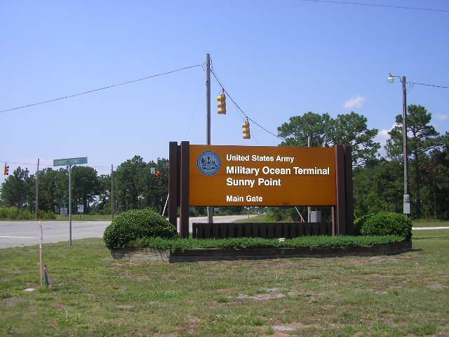 Military Ocean Terminal Sunny Point Brunswick County Nc