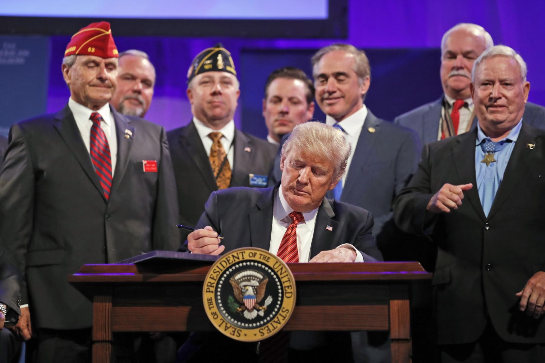 President Trump Signs Another Bill to Reform The VA VVA 2017