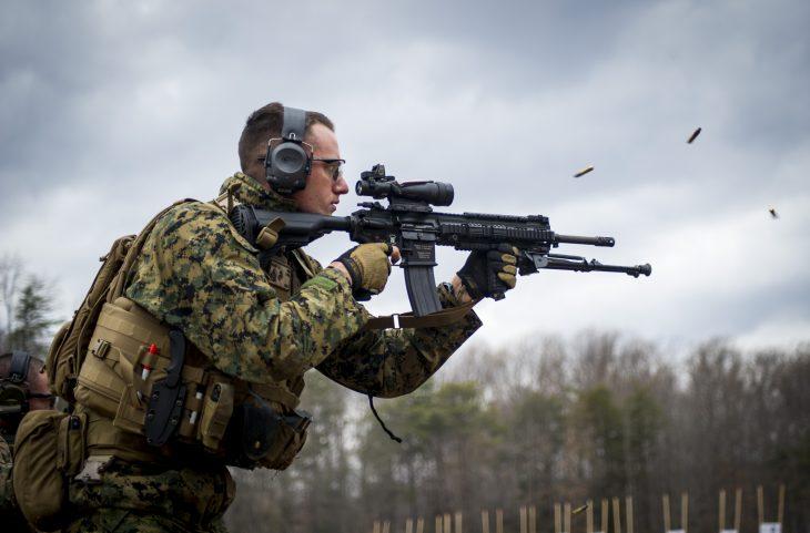 marines complete live fire range iar m27