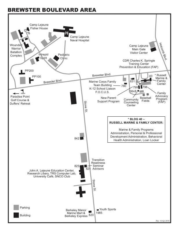 Camp Lejeune Marine Corps Base in Jacksonville, NC ... on map camp lejeune 1 edition, map of camp johnson nc, camp geiger nc, map of camp geiger marine base,